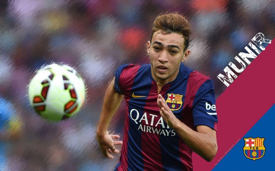 munir futbolista barcelona espaA wallpaper
