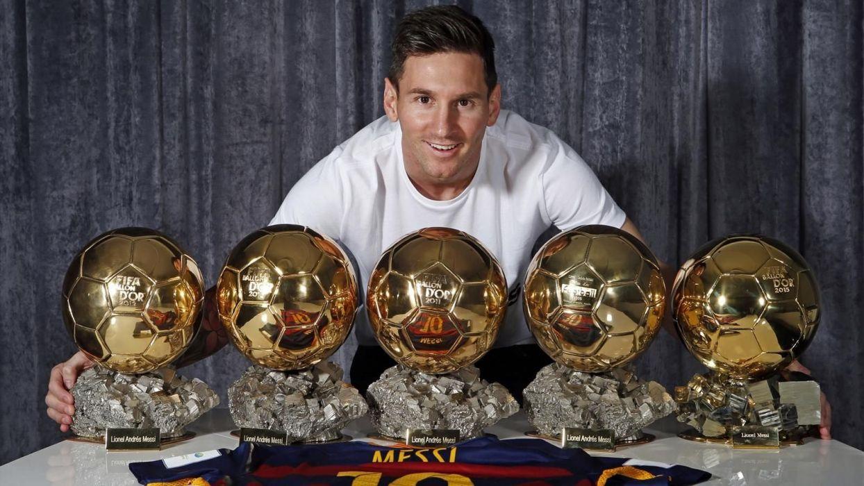 futbolista leo messi 5 balones oro barcelona argentina wallpaper