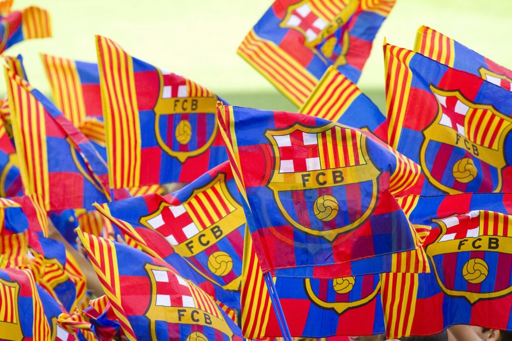 banderas fc barcelona escudo azulgranas wallpaper