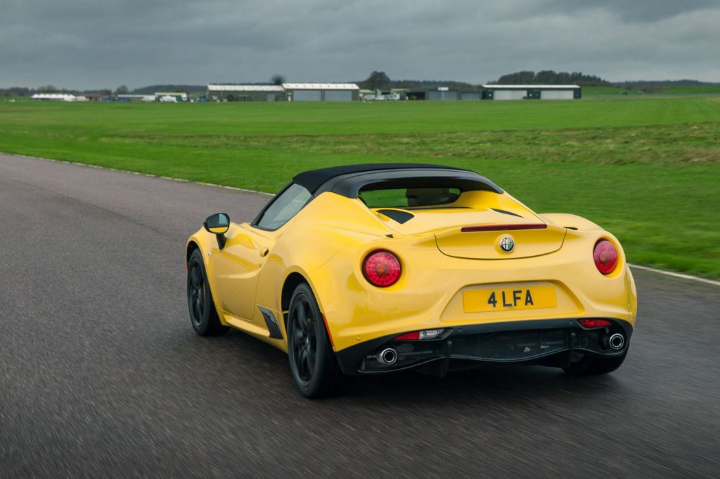 Alfa Romeo 4C Spider UK-spec (960) 2015 cars yellow wallpaper
