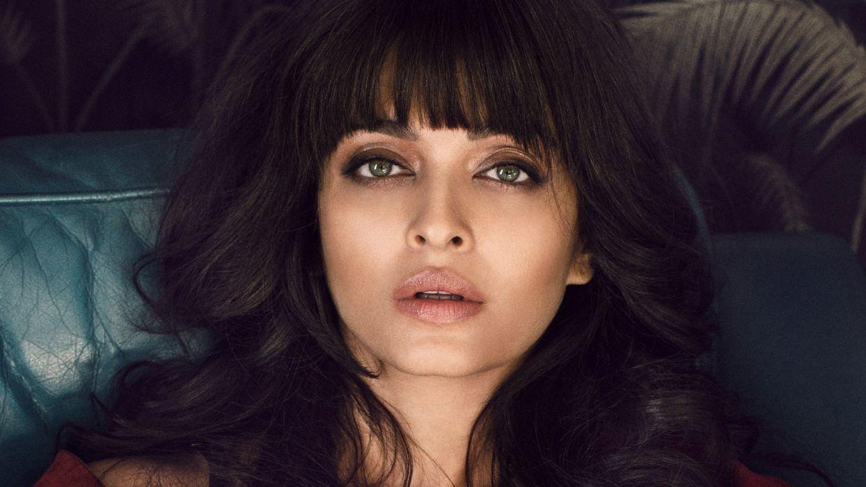 aishwarya rai bachchan bollywood actress model girl beautiful brunette pretty cute beauty sexy hot pose face eyes hair lips smile figure indian  wallpaper