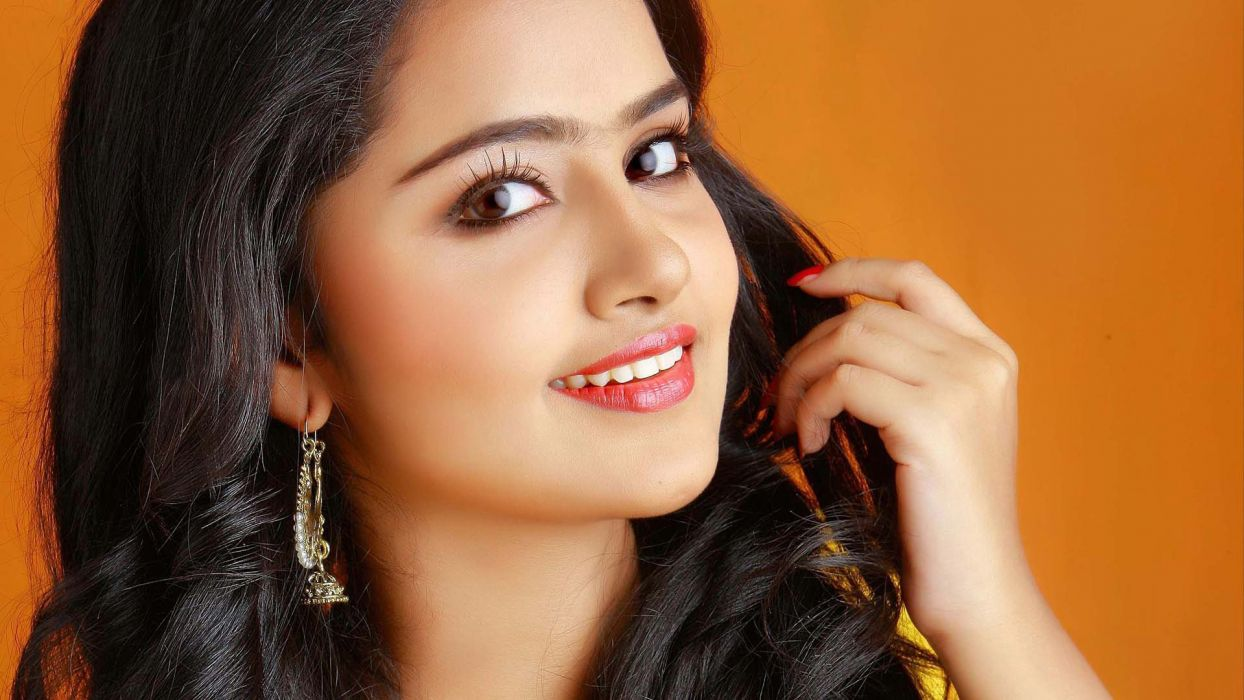 anupama parameshwaran bollywood actress model girl beautiful brunette pretty cute beauty sexy hot pose face eyes hair lips smile figure indian  wallpaper