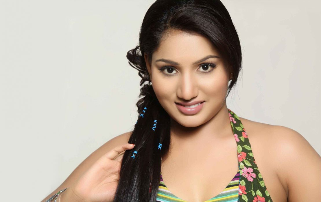Ruchchikha bollywood actress model girl beautiful brunette pretty cute beauty sexy hot pose face eyes hair lips smile figure indian  wallpaper