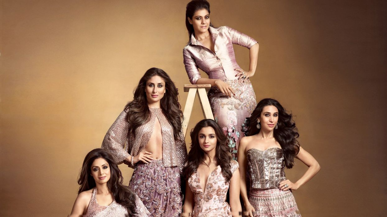 sridevi kareena alia karisma kajol bollywood actress model girl beautiful brunette pretty cute beauty sexy hot pose face eyes hair lips smile figure indian  wallpaper