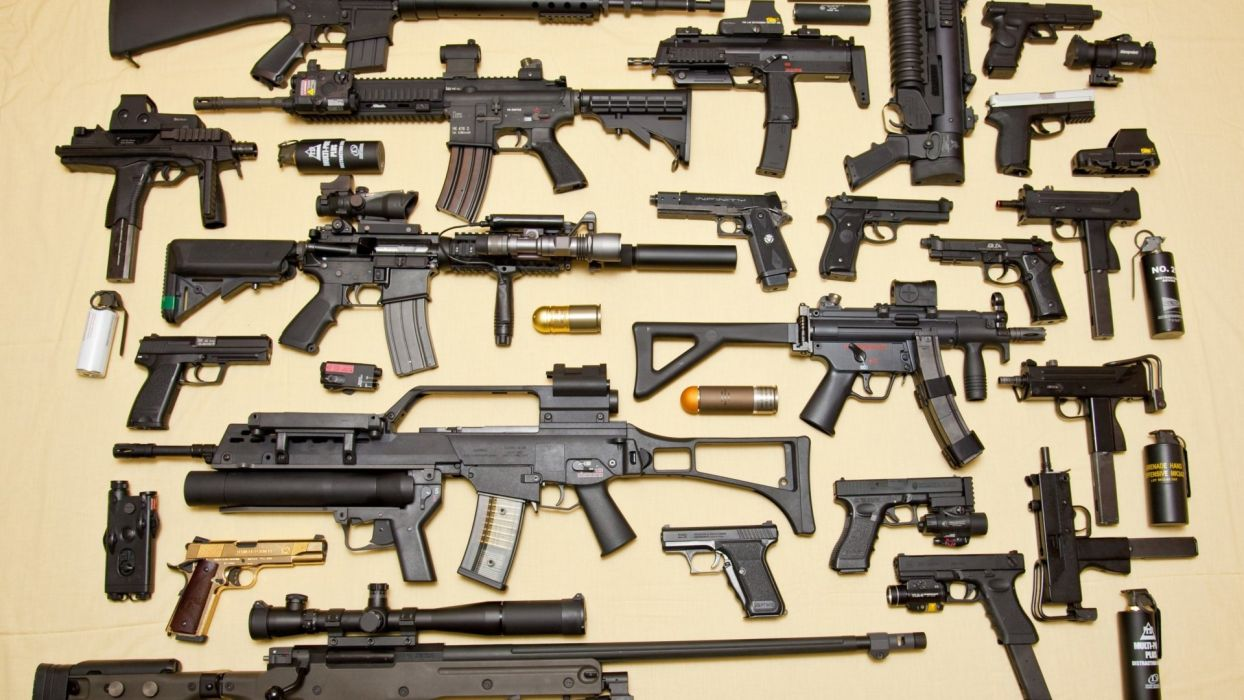 gun weapon guns weapons rifle military machine assault police swat handgun pistol wallpaper