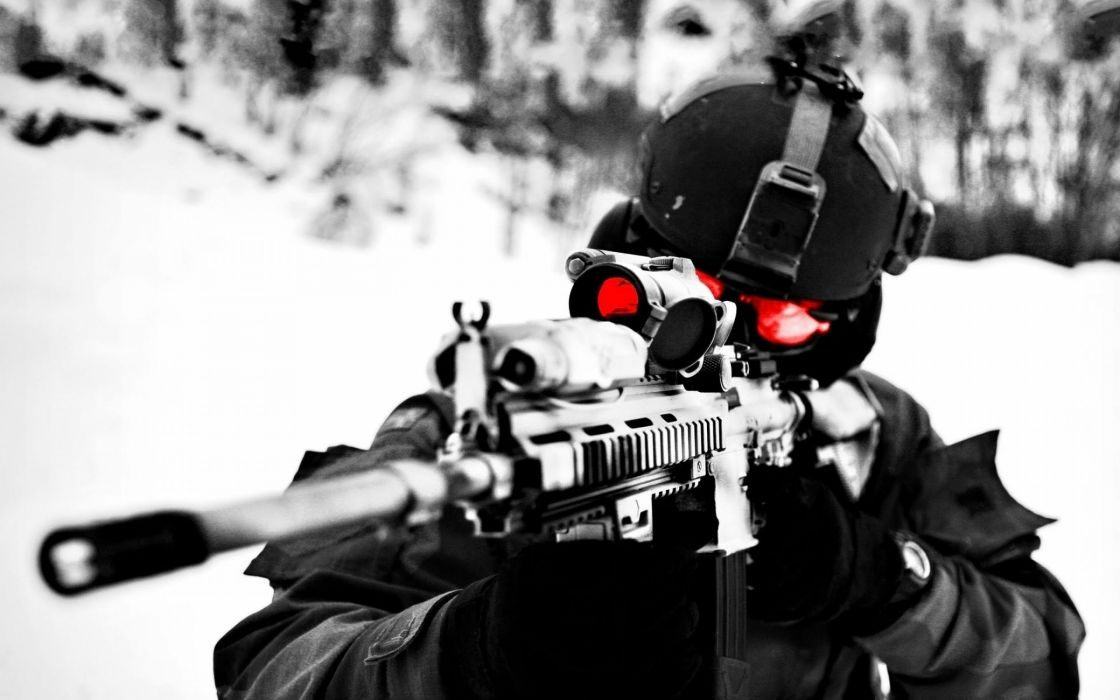Gun Weapon Guns Weapons Rifle Military Machine Assault Police Swat
