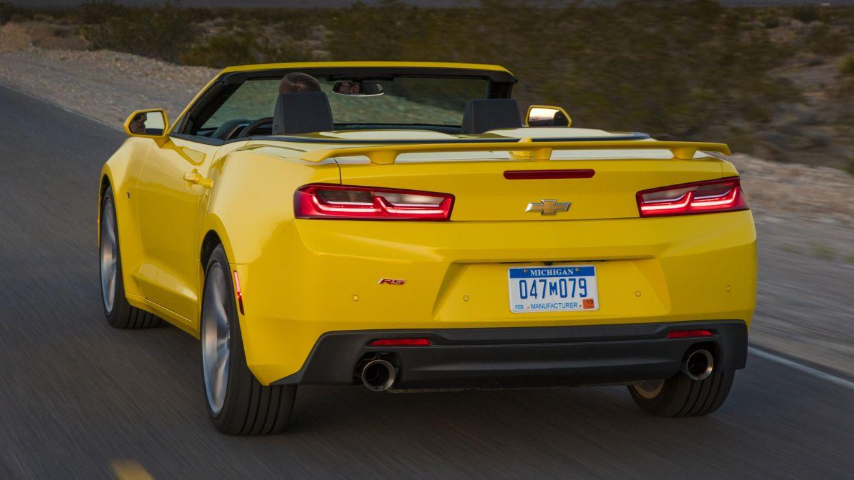 2016 Chevrolet Camaro RS Convertible cars yellow wallpaper