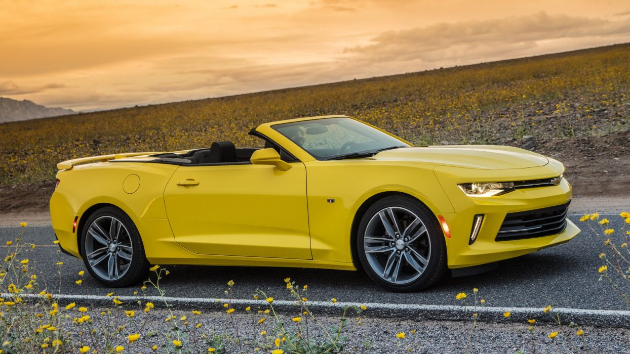 2016 Chevrolet Camaro RS Convertible cars yellow wallpaper