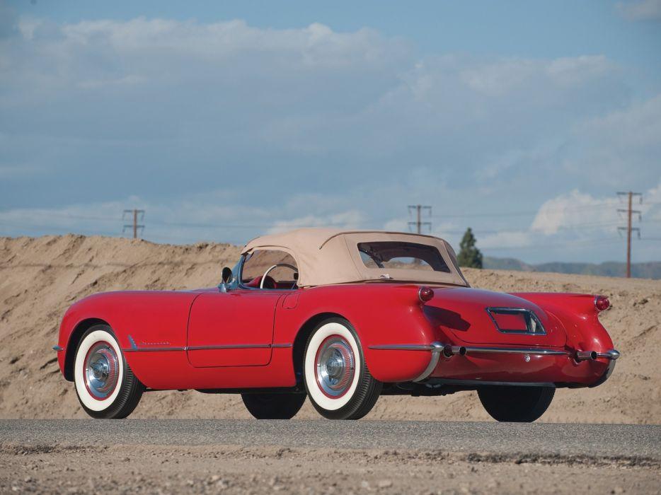 1954 Chevrolet Corvette (C1) Sportsman Red cars classic wallpaper