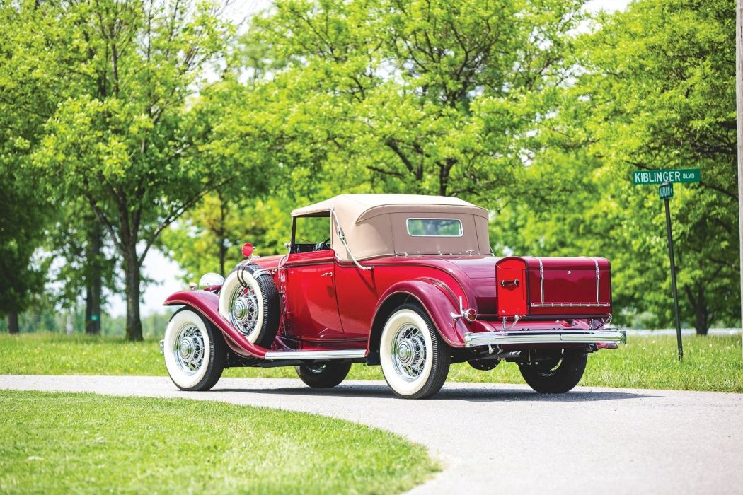 1932 Buick Series 90 Convertible Coupe Red cars classic wallpaper
