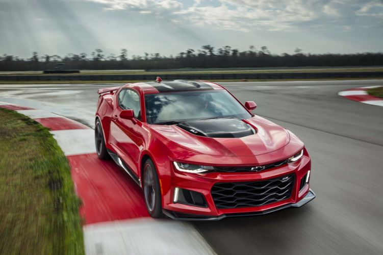 2016 Chevy chevrolet Camaro ZL1 cars coupe red wallpaper