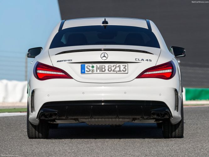 Mercedes Benz CLA45 AMG cars sedan 2016 wallpaper