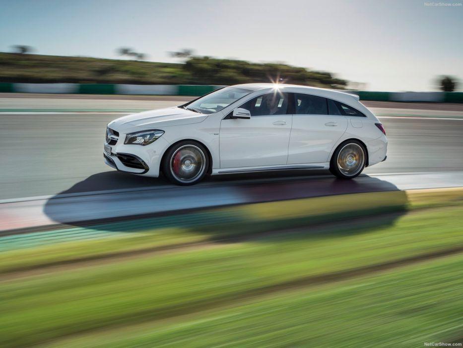 Mercedes Benz CLA45 AMG Shooting Brake cars wagon 2016 wallpaper