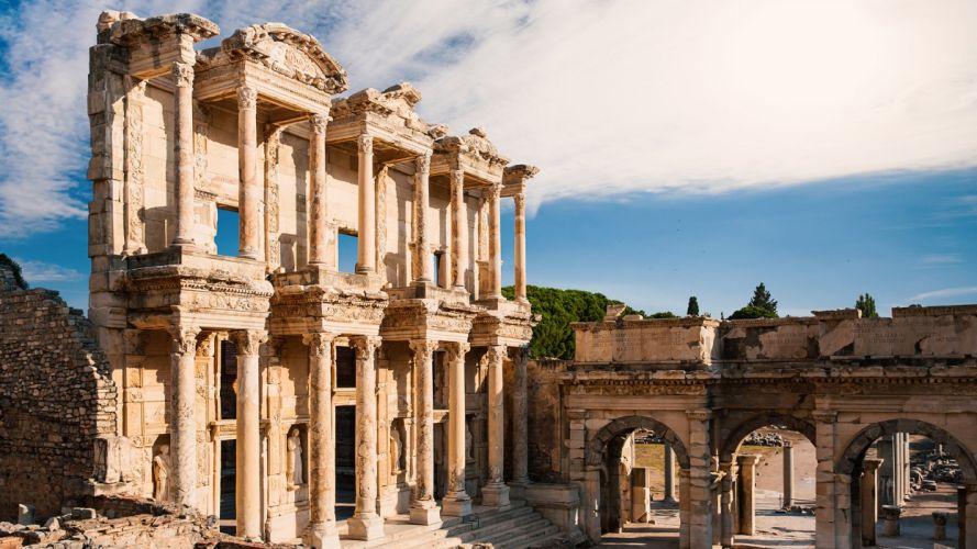 The ruins summer tourism landscape beauty is amazing turkey izmir wallpaper