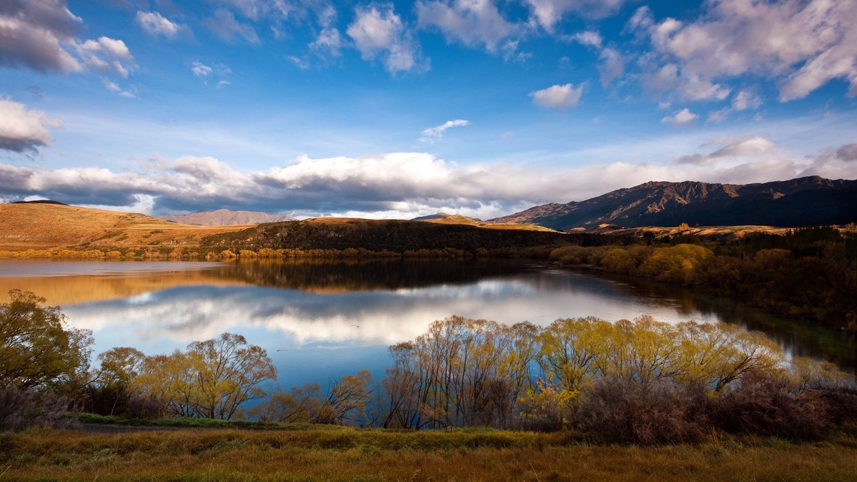 amazing beauty cloud sky landscape nature mountain lake wallpaper
