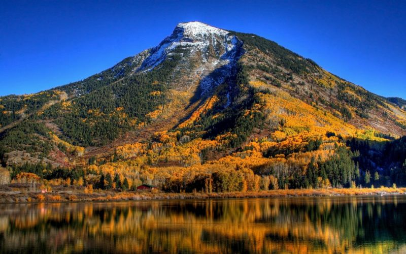 nature beauty Fall Autumn Mountain Leaves wallpaper