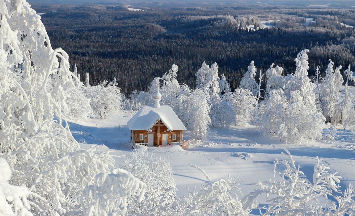 amazing mountain lake landscape house nature beauty winter forest white house wallpaper