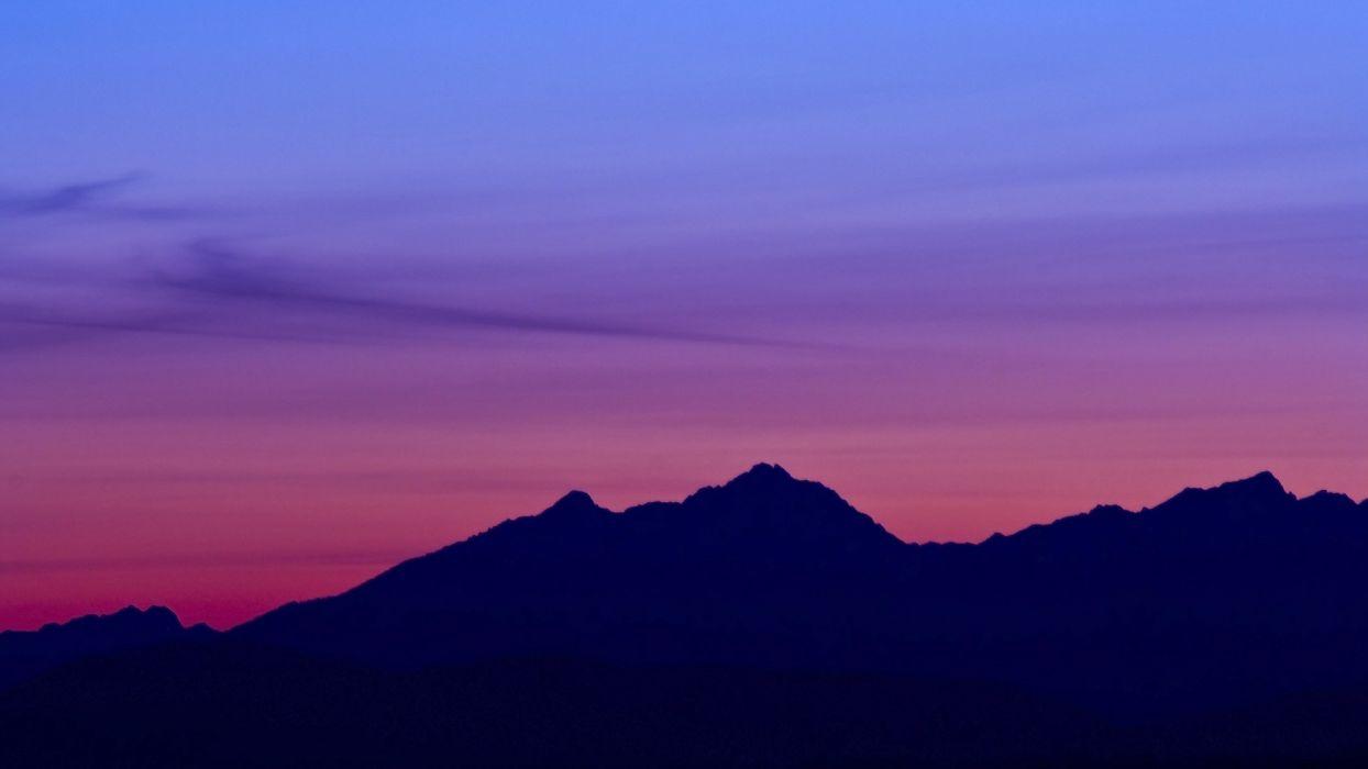amazing mountain sunset nature beauty wallpaper