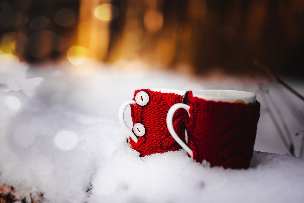 mood cup coffee winter landscape nature beauty wallpaper