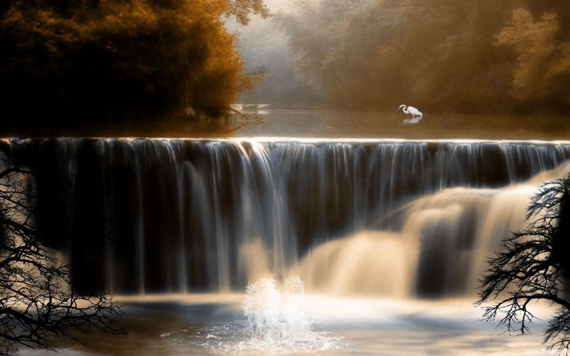 Beautiful Autumn Landscape amazing lake art painting landscape nature beauty wallpaper