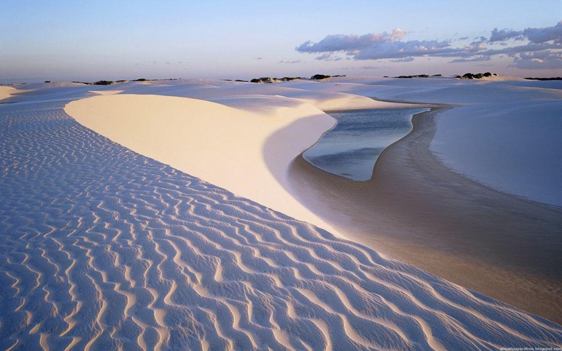 Desert Landscape amazing landscape nature beauty beach sky clouds wallpaper
