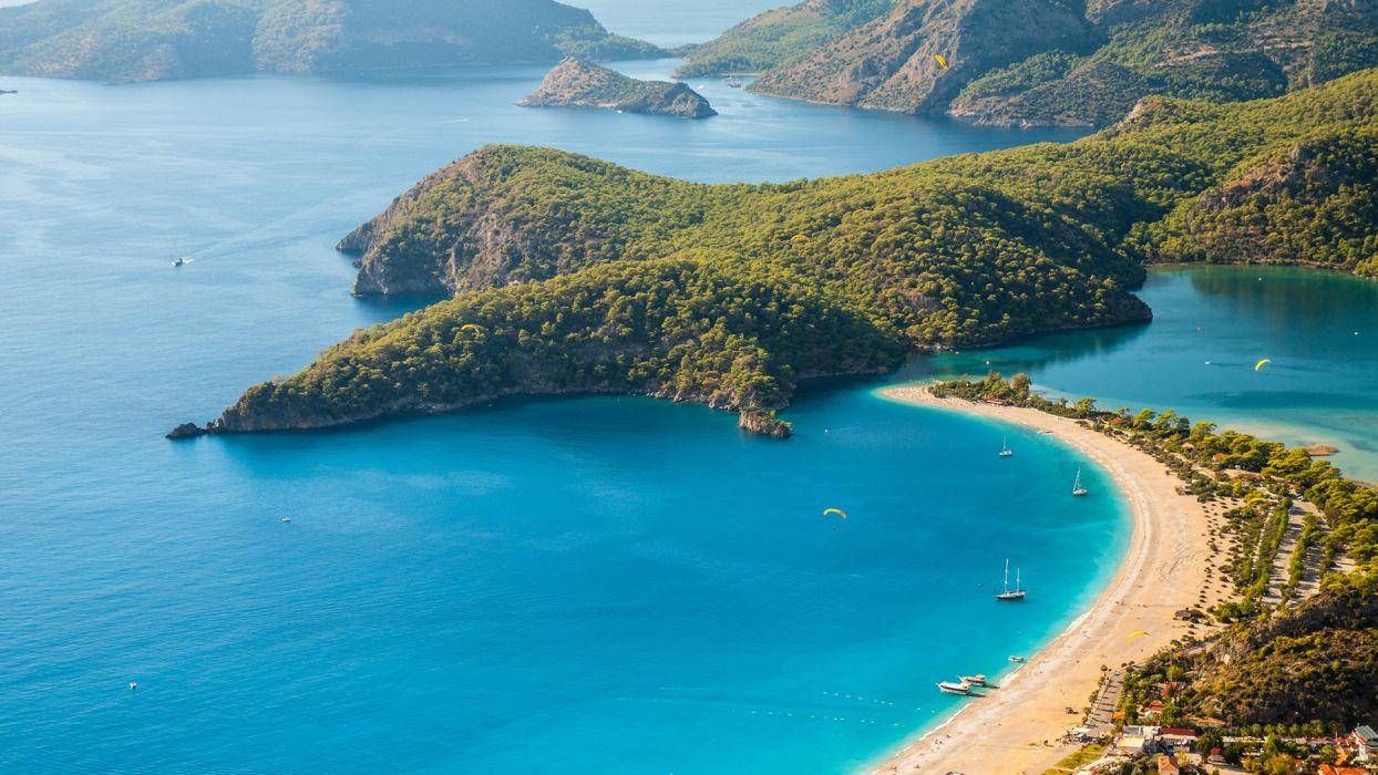 Nature S Beauty Beach Wallpaper: Amazing Landscape Nature Beauty Beach Blue Turkey Oludeniz