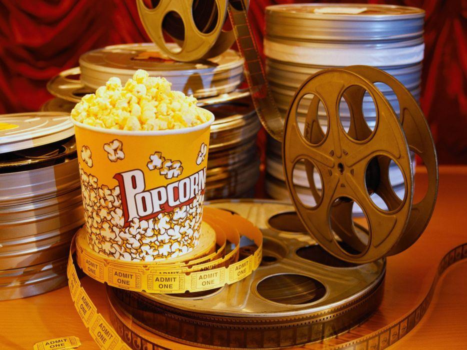 popcorn food movie wallpaper