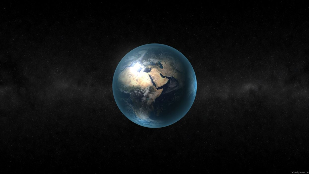 Planet Earth space wallpaper