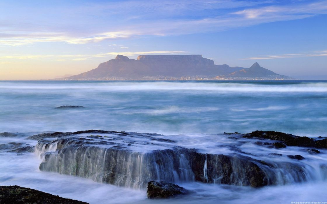 South Africa amazing landscape nature beauty mountain sky clouds ocean wallpaper