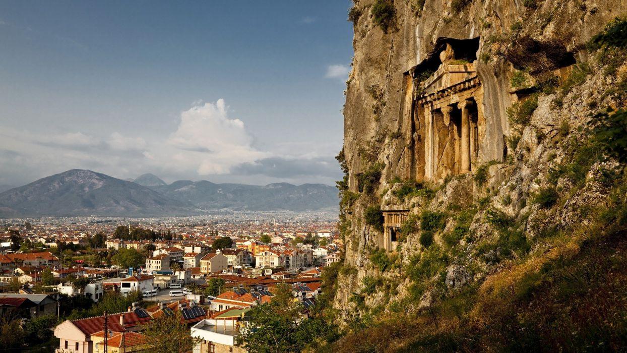 amazing landscape nature beauty city turkey sky clouds wallpaper