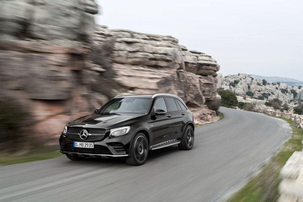 Mercedes AMG GLC 43 4MATIC (X253) cars black suv 2016 wallpaper