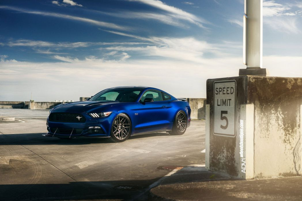 Ford Mustang GT CS blue cars adv1 wheels wallpaper