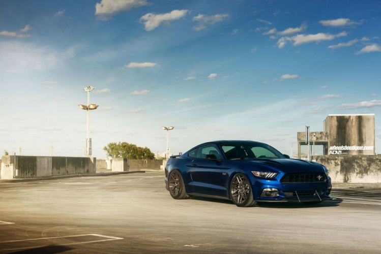 Ford Mustang GT CS blue cars adv1 wheels wallpaper