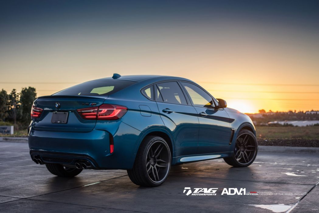 BMW X6M BLUE suv cars HRE wheels wallpaper