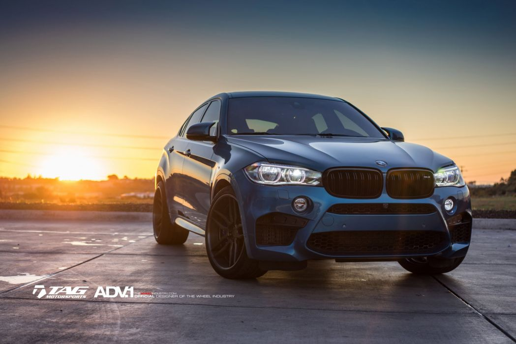 BMW X6M BLUE suv cars HRE wheels wallpaper