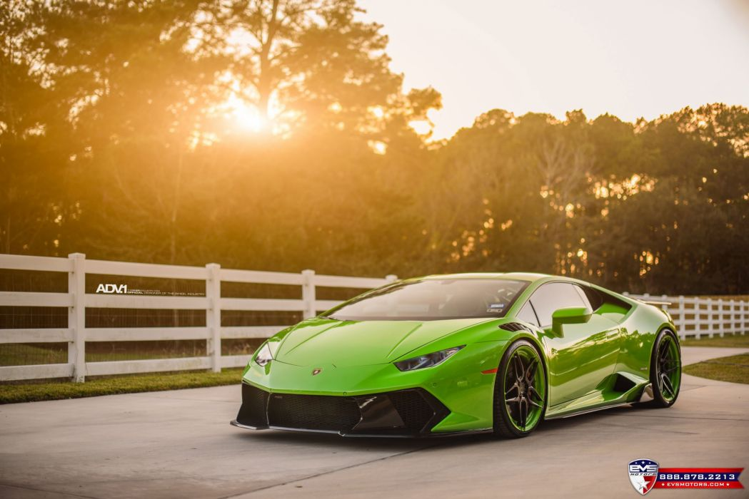 Lamborghini Huracan LP610 green cars adv1 wheels wallpaper