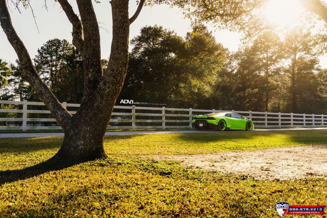 Lamborghini Huracan LP610 green cars adv1 wheels wallpaper