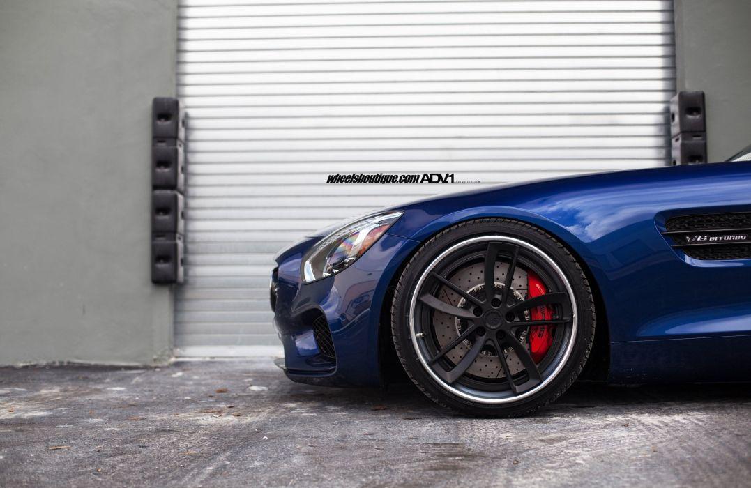 Mercedes AMG GTS blue cars adv1 wheels wallpaper