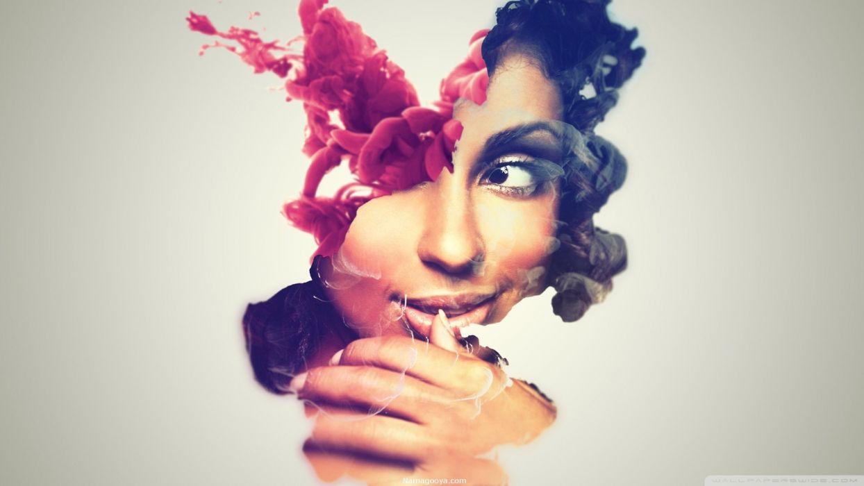 abstracto arte mujer wallpaper