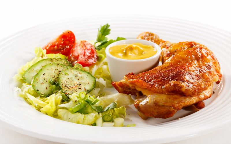 comidas carnes verduras salsas wallpaper