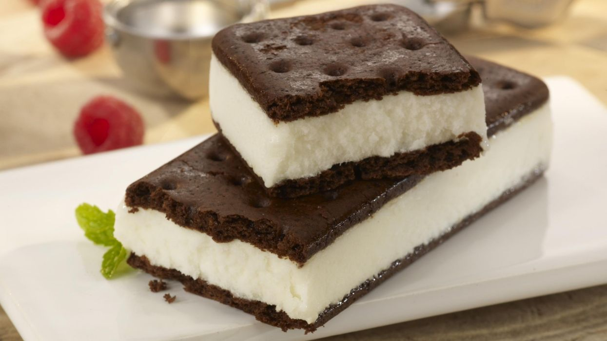 postre helados sandwich nata chocolate wallpaper
