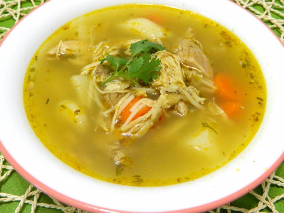 comida sopa pollo wallpaper