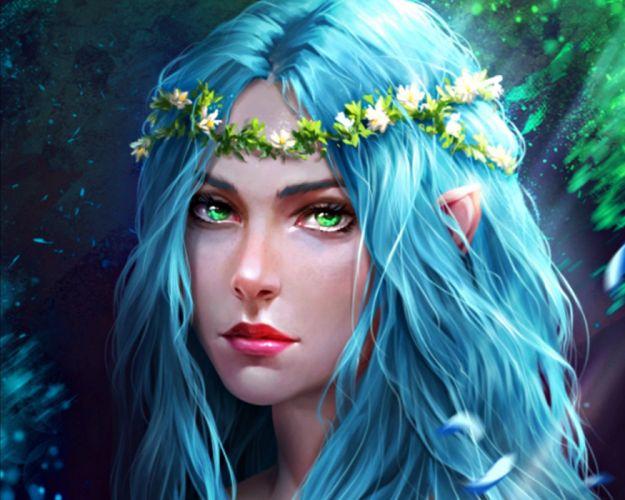 tira owl fantasy girl character beautiful long hair woman wallpaper