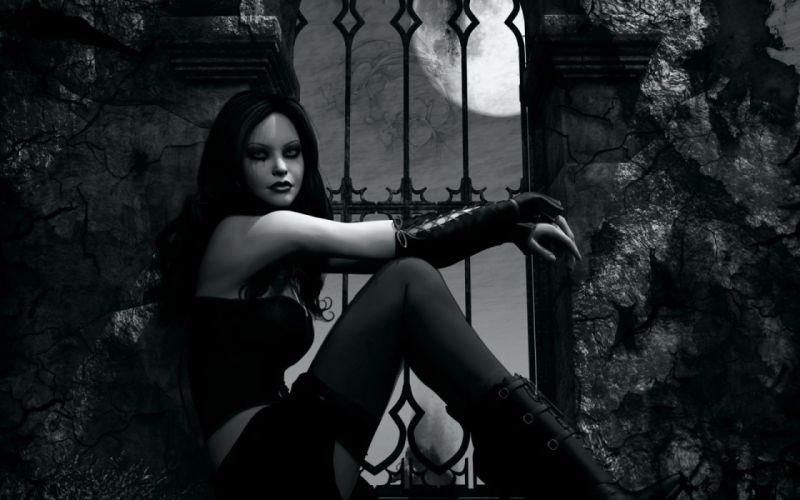 GOTHIC goth style goth loli women girl dark vampire wallpaper
