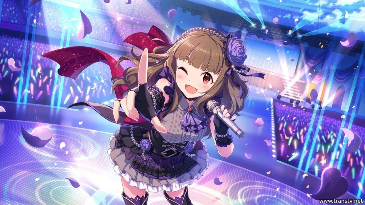 anime girl singer cute dress wallpaper