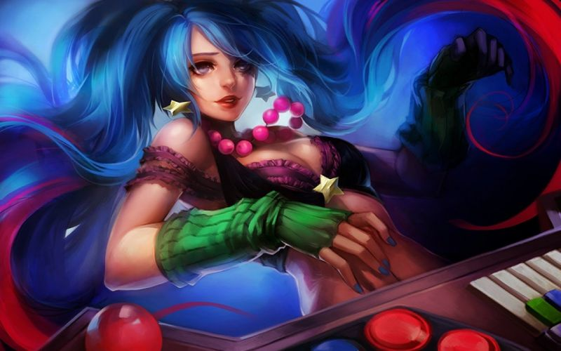 fantasy girl character beautiful long hair woman league of legends wallpaper