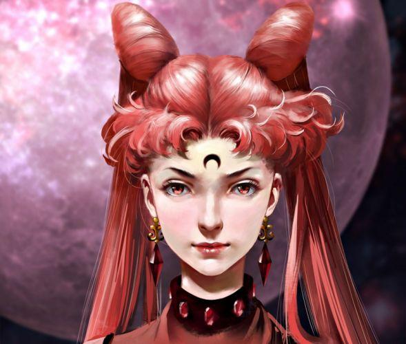 anime series sailor moon fantasy girl chibiusa black lady wallpaper
