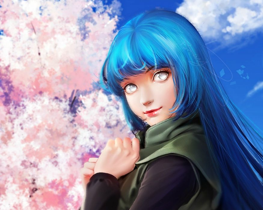 fantasy girl character beautiful long hair woman anime naruto wallpaper