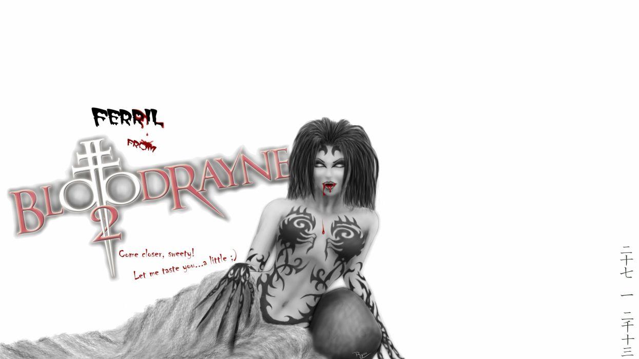 BLOODRAYNE action adventure fantasy dark horror vampire blood thriller superhero poster wallpaper
