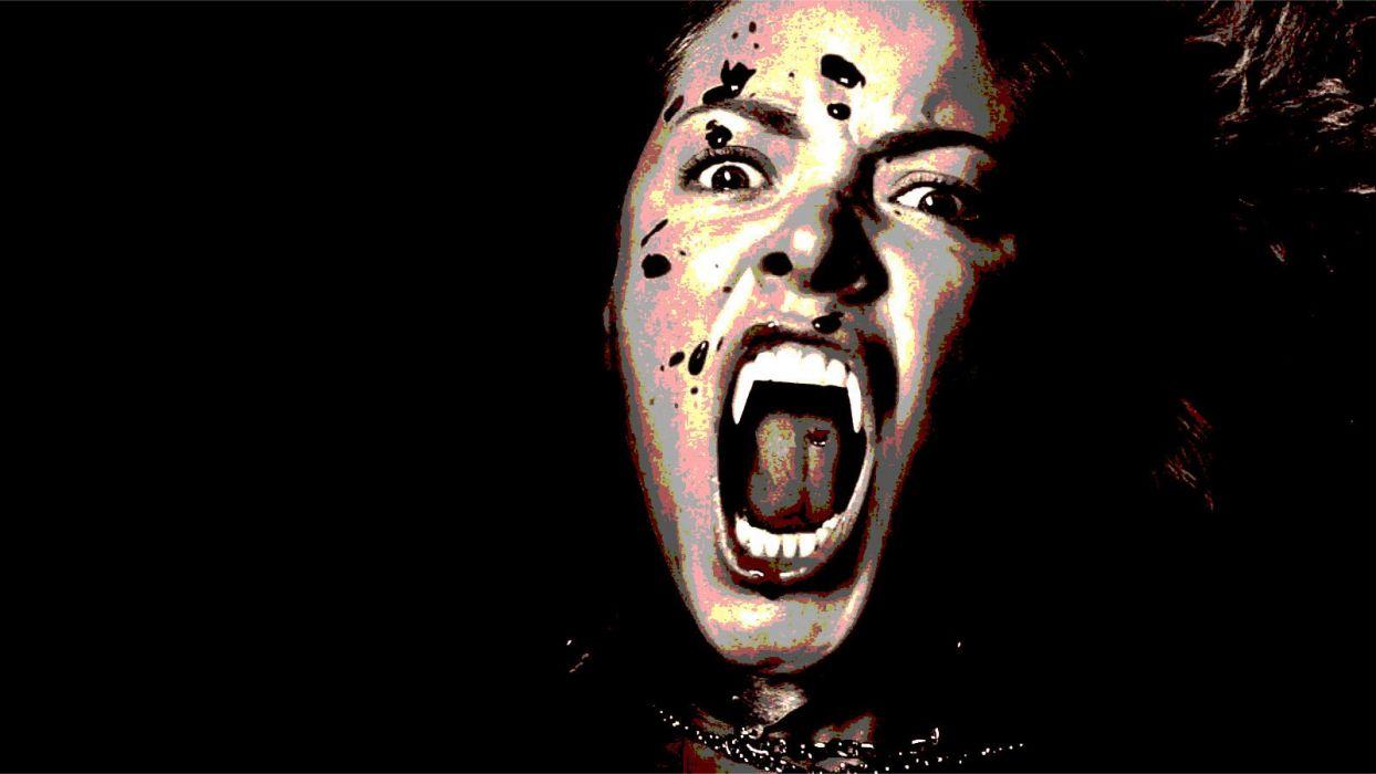 BLOODRAYNE action adventure fantasy dark horror vampire blood thriller superhero wallpaper